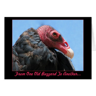 Old Buzzard Birthday Card