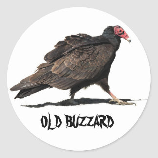 OLD BUZZARD CLASSIC ROUND STICKER