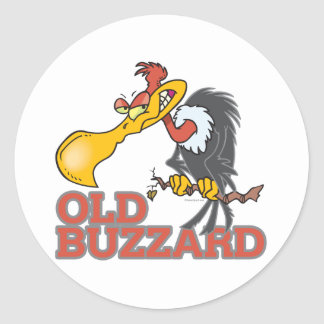 old buzzard funny cartoon character stickers
