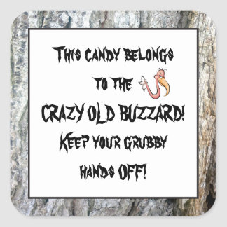 Old Buzzard's candy fun sticker