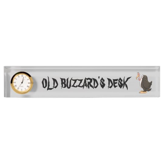 Old Buzzard's Desk name plate