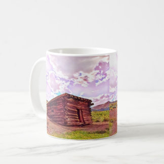 Old Cabin in Coyote by Jacqueline Kruse Coffee Mug
