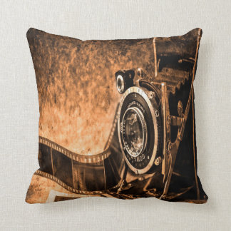 Old Camera Throw Pillow