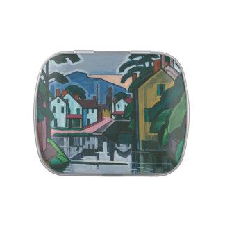 """Old Canal Port"" art tins & jars"