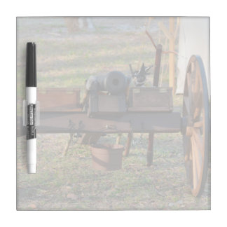 old canon front view on wheels dry erase board