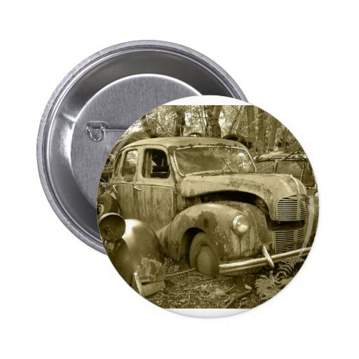 old car 2 pinback button
