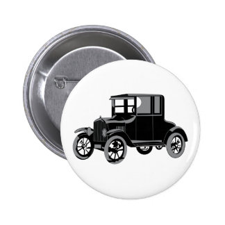 Old Car 2 Inch Round Button
