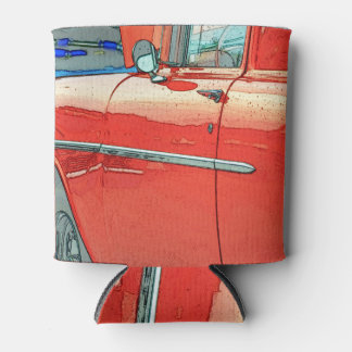 Old car as a sketch can cooler