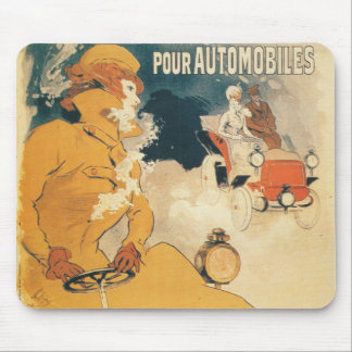 Old car automobile French advertisement Mouse Pad