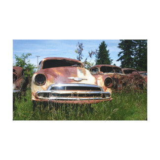 Old Car in Junkyard scen Canvas Picture Canvas Prints