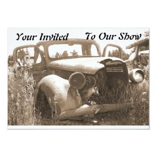 Old Car Invitation For Car Show