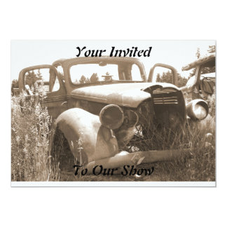 Old Car Invitations for Car Show