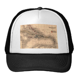Old Caribbean Map Dive Shirt Trucker Hat