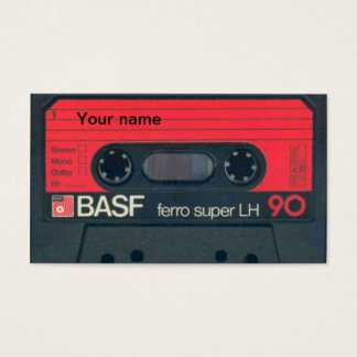 Old cassette business card