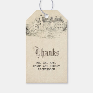 Old Castle Fairytale Wedding Vintage Pack Of Gift Tags
