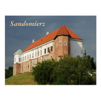 Old castle in Sandomierz. Poland Postcard