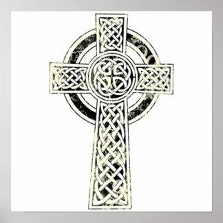Old Celtic Cross Poster
