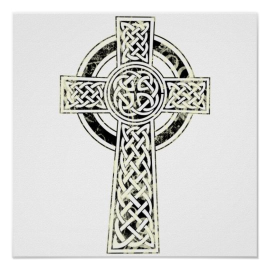 Old Celtic Cross Poster