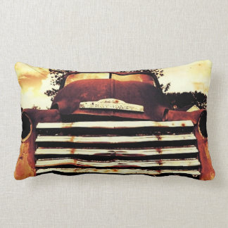 Old Chevy Farming Truck Lumbar Pillow