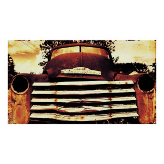 Old Chevy Farming Truck Poster