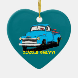 Old Chevy Pickup Truck Ceramic Ornament