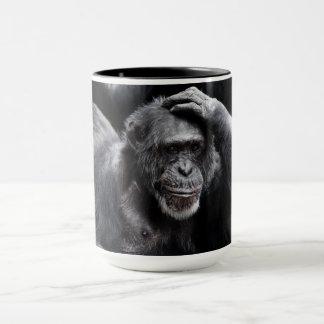 Old Chimpanzee custom name mugs