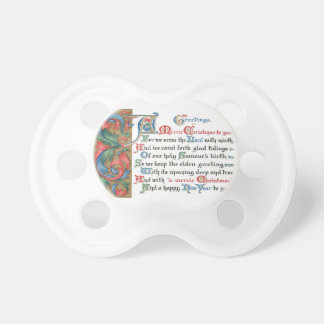 Old Christmas Card Pacifier