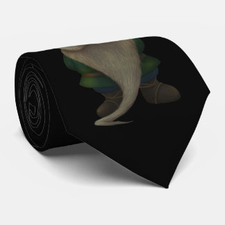 Old Christmas Gnome Black Tie