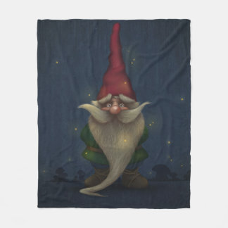 Old Christmas Gnome Fleece Blanket
