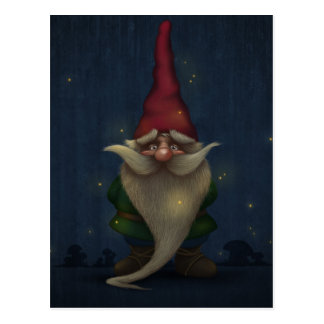 Old Christmas Gnome Postcard