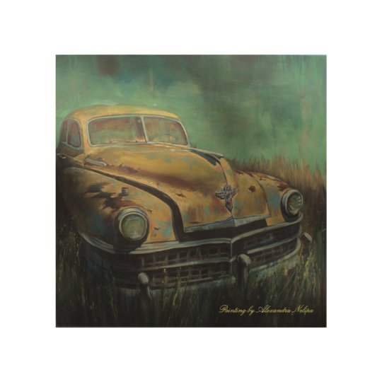 Old Chrysler Wood Wall Art
