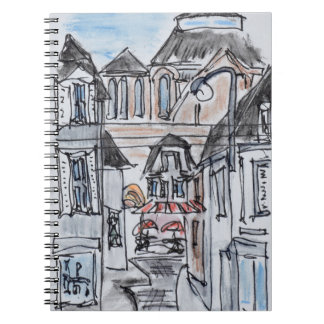 Old Church Concarneau Rue Turenne, Brittany Spiral Notebook