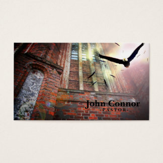 Old Church & Holy Eagle Pastor Business Card