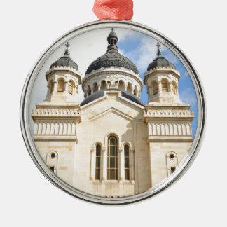 Old church in Cluj Napoca, Romania Silver-Colored Round Ornament