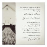 Old Church Vintage Wedding Invitation