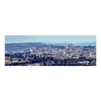 Old City Jerusalem - View from Mt. Scopus Poster