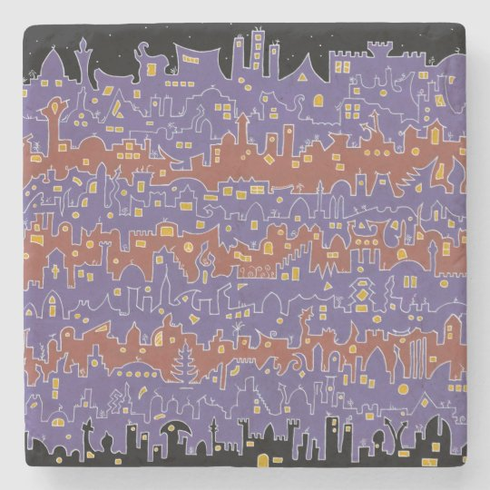 Old City – Sana'a - Marble Stone Coaster