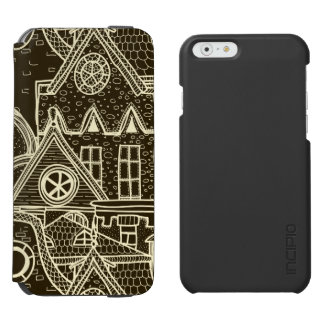 Old City sketchy pattern on dark background Incipio Watson™ iPhone 6 Wallet Case