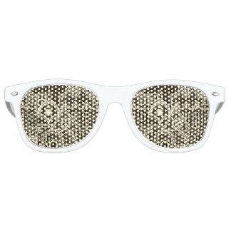 Old City sketchy pattern on dark background Retro Sunglasses