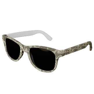 Old City sketchy pattern on dark background Sunglasses