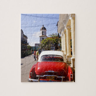 Old classic American auto in Guanabacoa a town Jigsaw Puzzle