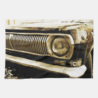 Old Classic Car Headlight #2 Kitchen Towel