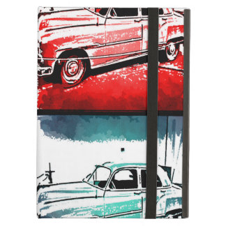 Old Classic Car Watercolor Pop Art Print Case For iPad Air