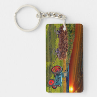Old classical Trecker Double-Sided Rectangular Acrylic Keychain