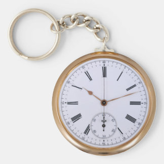 Old Clock Antique Pocket Watch Keychain