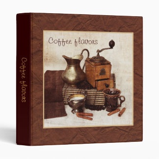 Old coffee mill kitchen recipe binder