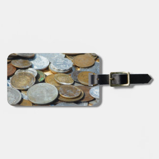 Old-coins1299 OLD COINS COPPER SILVER METAL BRONZE Luggage Tag