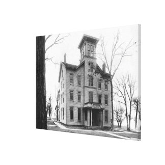 Old College, Evanston, built in 1855 Canvas Print