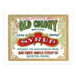 Old Colony Syrup Vintage Label Post Card