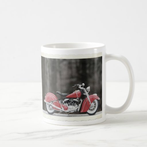 Old color motorcycle photo mug